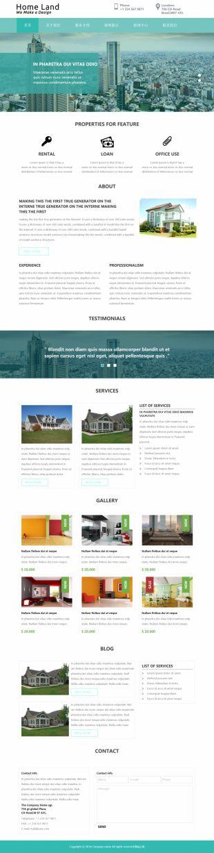 装修设计单页Web应用模板响应式网站电脑图片