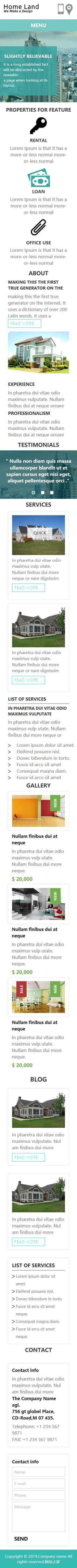 装修设计单页Web应用模板响应式网站手机图片