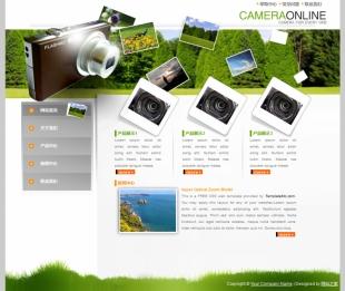 摄影作品网站模板电脑图片
