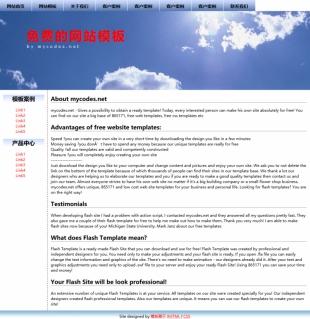 左右结构两列布局宽屏网站单页模板电脑图片