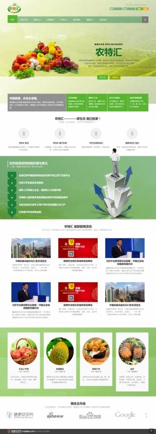 农业众筹投资项目网站制作模板响应式网站电脑图片