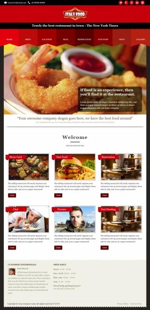 国外美食类英文模板网站电脑图片