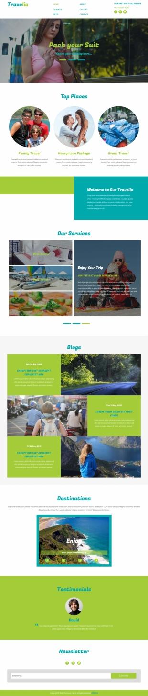 度假旅行类英文模板网站电脑图片