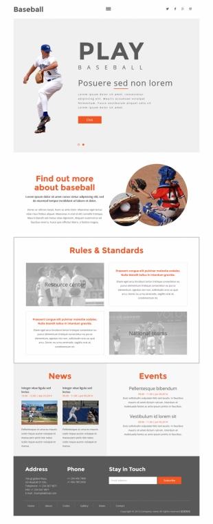 棒球俱乐部官网类英文模板网站电脑图片