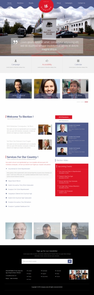 政府机关类英文模板网站响应式网站电脑图片