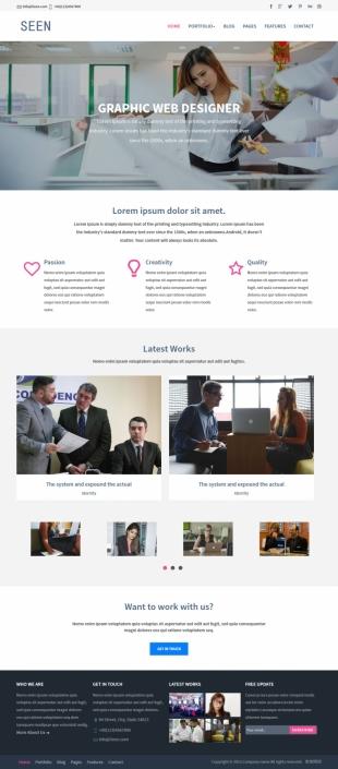 图形网页设计师类英文模板网站电脑图片