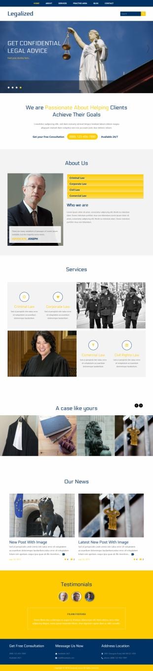 政府类法院官网英文网站建设模板电脑图片