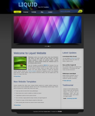 Liquid template英文模板网站电脑图片