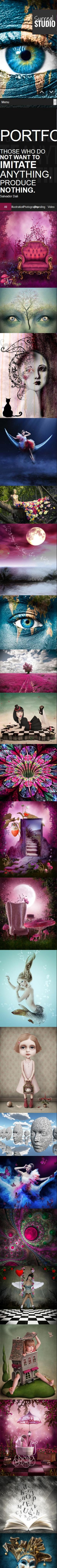 摄影彩妆造型类英文网站模板制作手机图片