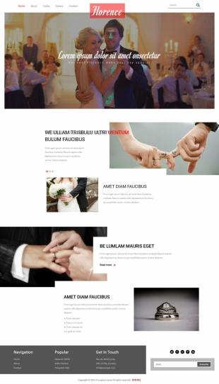 婚礼定制类英文网站制作模板电脑图片