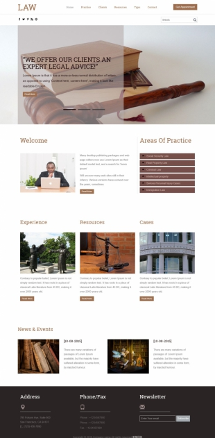 法院官网英文网站建设模板电脑图片