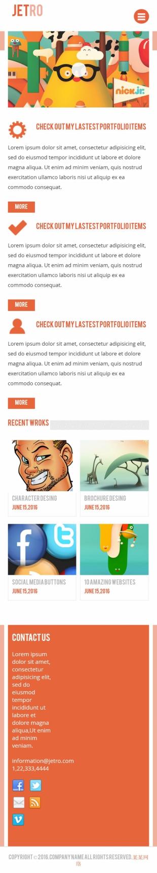 动画制作类英文网站建设模板手机图片
