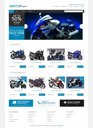 摩托车英文模板网站电脑图片