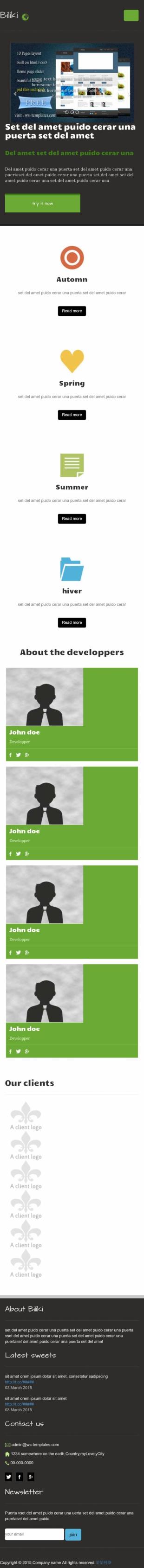 网站页面设计类首页英文模板网站制作手机图片