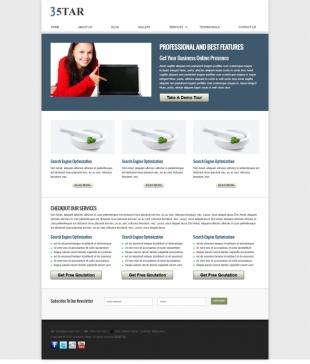 企业官网类英文模板网站制作电脑图片