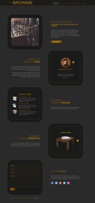 团队介绍类英文模板网站响应式网站电脑图片