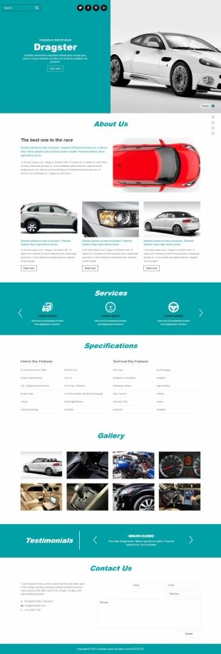 汽车类英文模板网站建设响应式网站电脑图片