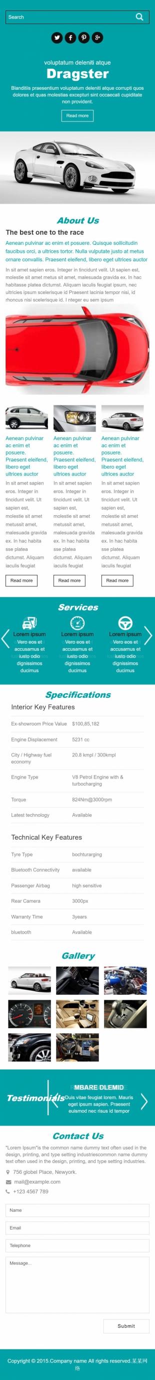 汽车类英文模板网站建设响应式网站手机图片