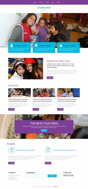 贫困地区支援类英文模板网站电脑图片