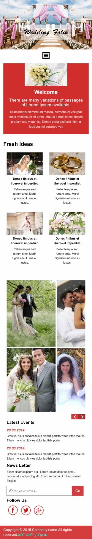 婚庆类英文模板网站制作手机图片