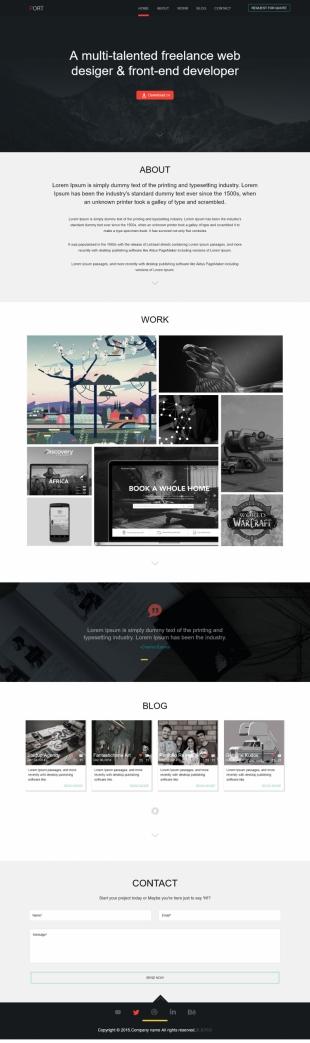 动画设计类英文模板网站响应式网站电脑图片