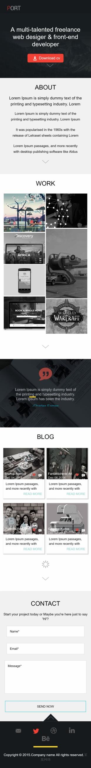 动画设计类英文模板网站响应式网站手机图片
