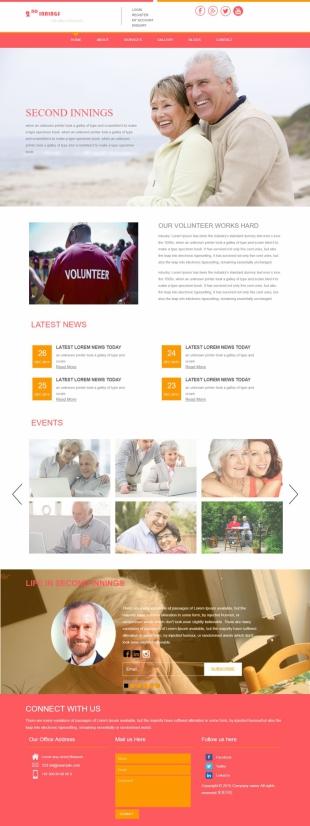 老人公寓养老类英文模板网站电脑图片