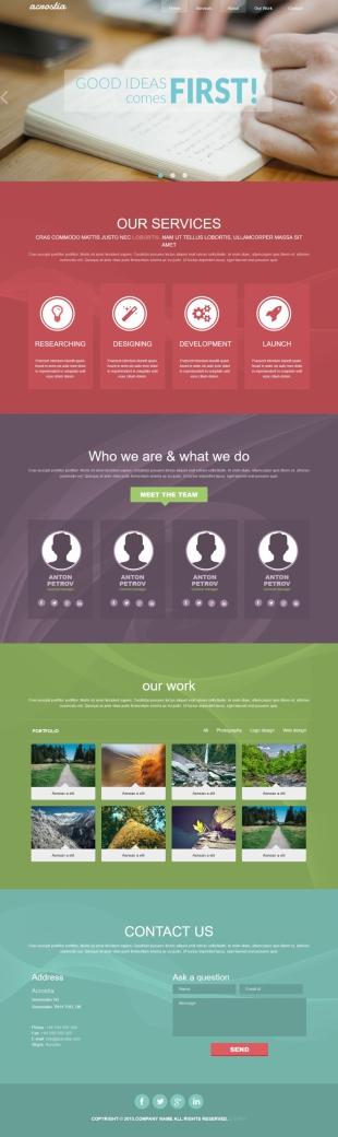 设计类英文模板网站响应式网站电脑图片