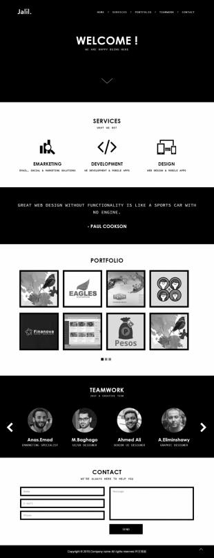 企业成功案例类英文模板网站响应式网站电脑图片