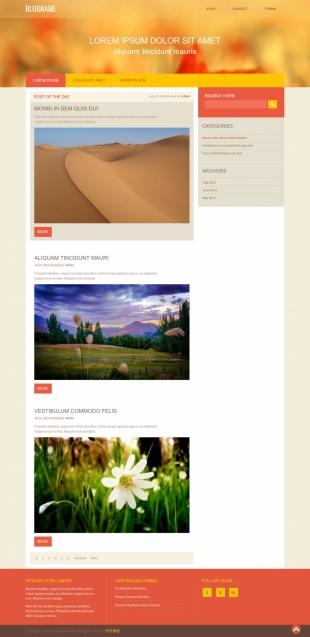 景区介绍类英文模板网站电脑图片