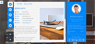 个人博客简历类英文模板网站制作响应式网站电脑图片