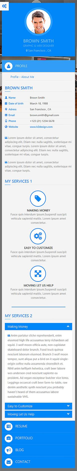个人博客简历类英文模板网站制作响应式网站手机图片