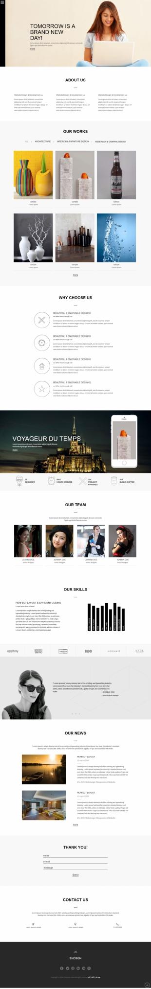 设计公司展示英文模板网站响应式网站电脑图片