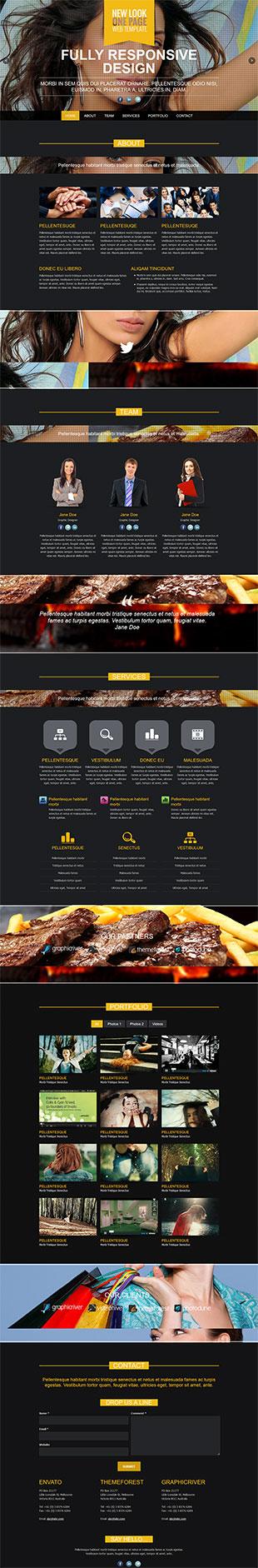 公关设计顾问英文模板网站响应式网站电脑图片