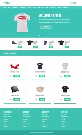购物商城类英文模板网站HTML5响应式自适应电脑图片
