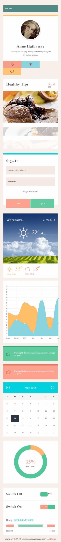 个人博客类英文模板网站响应式网站手机图片