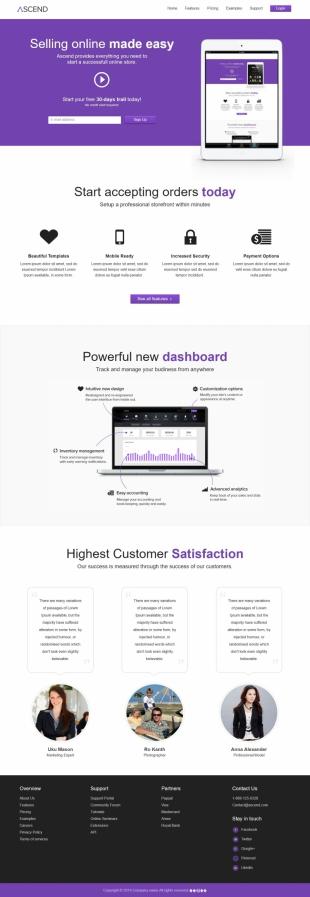 网上销售类英文模板网站响应式网站电脑图片
