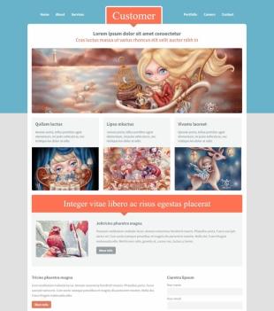动画制作公司类英文模板网站建设电脑图片