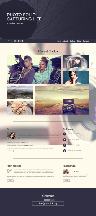 写真摄影类英文模板网站建设电脑图片