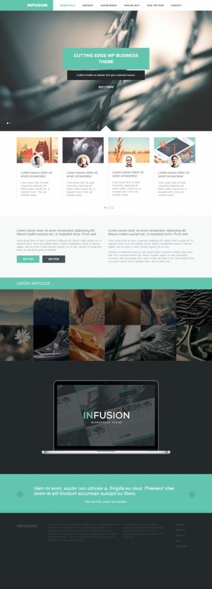 Infusion WP Theme英文网站制作模板电脑图片