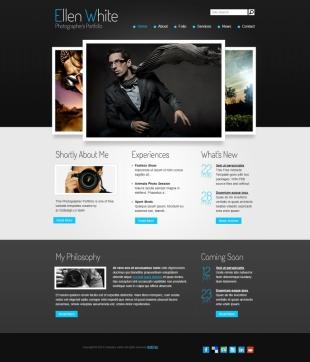 高端人士微博英文模板网站建设电脑图片