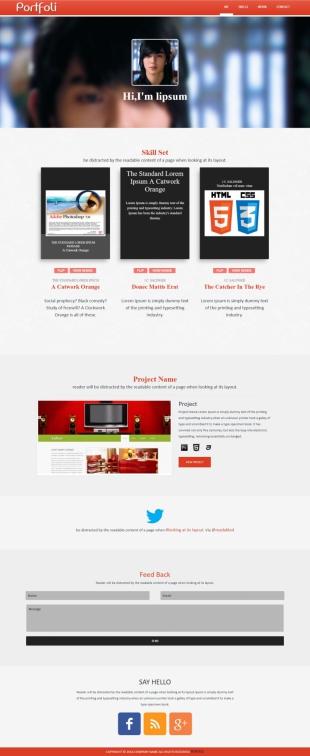 个人博客类英文模板网站响应式网站电脑图片