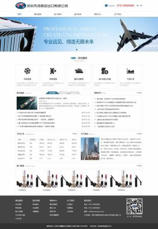 进出口公司类模板网站建设电脑图片