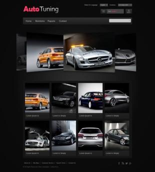 汽车商城类英文模板网站建设响应式网站电脑图片