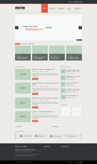 简洁多图展示企业整站模板网站建设电脑图片