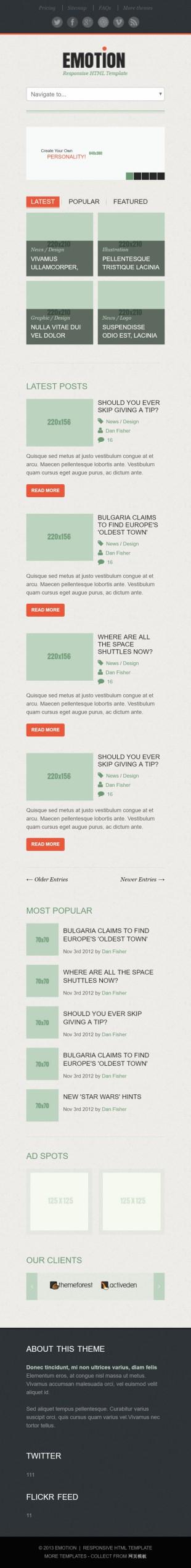 简洁多图展示企业整站模板网站建设手机图片