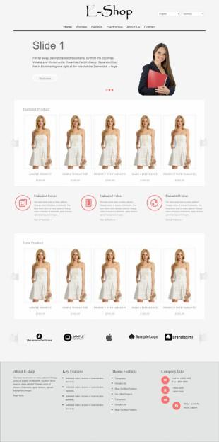 时装在线购物商城首页网站模板制作电脑图片