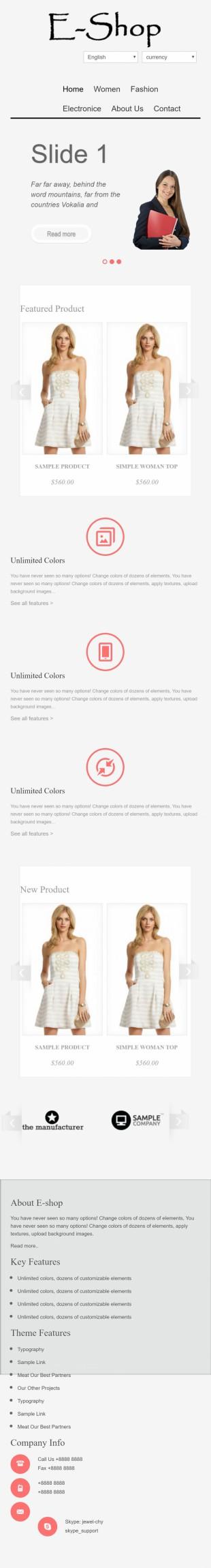 时装在线购物商城首页网站模板制作手机图片