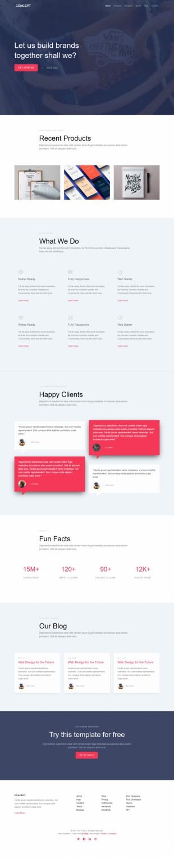 设计类公司企业官网模板网站制作电脑图片