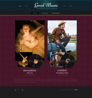 暗纹质感复古音乐公司整站模板电脑图片